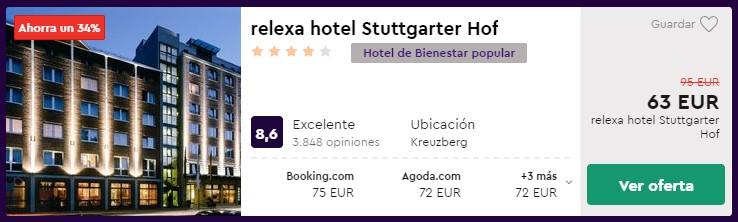 Hotel 4* en Berlín desde 31,50 euros por persona y noche