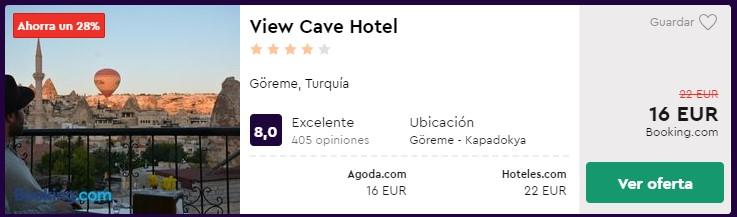 Hotel 4 estrellas en Capadocia desde 8 euros por persona y noche para san valentin