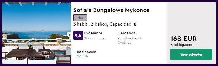 Villa en mikonos en verano 2020 desde 20 euros por persona y noche