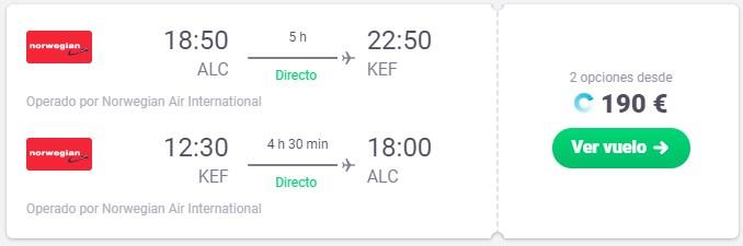 Vuela a Islandia desde 95 euros trayecto