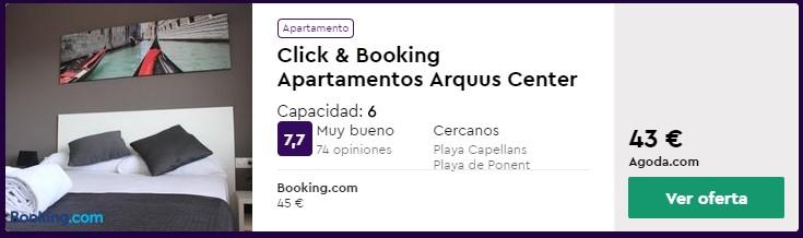 Apartamento en Salou desde 8 euros por persona y noche