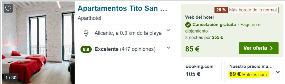 apartamento en la playa de Alicante en julio 2020 desde 34 euros