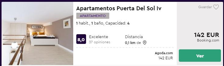 apartamento en madrid para cuatro y céntrico desde 35 euros por persona y noche