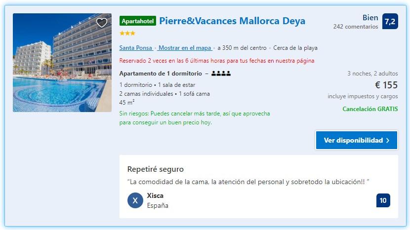 apartamento en mallorca puente de octubre desde 50 euros la noche y 10 euros por persona y noche