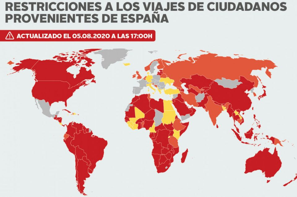 Listado de países que imponen cuarentena si viajas desde España (COVID-19)