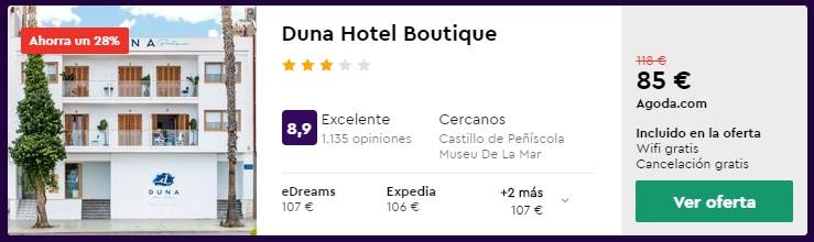 Hotel 3* en Peñiscola desde 42,50 euros por persona y noche