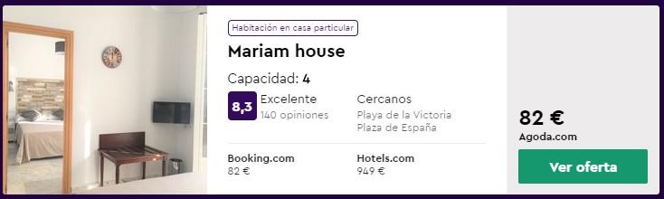 Apartamento en Cádiz desde 20,50 euros por persona y noche