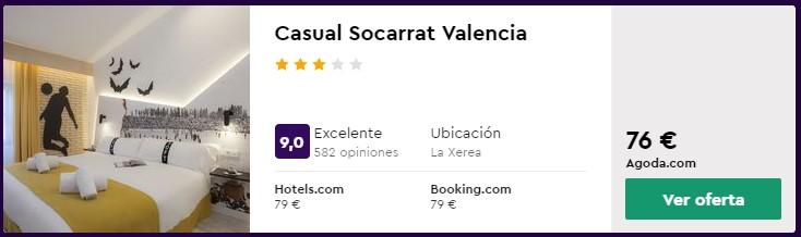 Hotel 3* en Valencia desde 38 euros por persona y noche