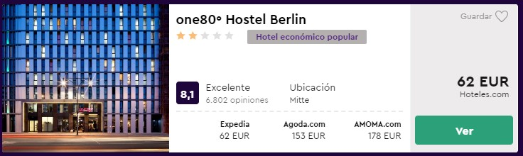 hostel en berlin desde 31 euros por persona y noche