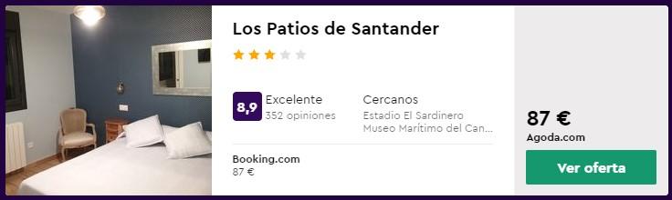 Hotel 3* en Santander desde 43,50 euros por persona y noche