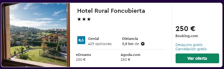 hotel 3 estrellas en asturias para puente de octubre 2021 desde 31 euros persona y noche