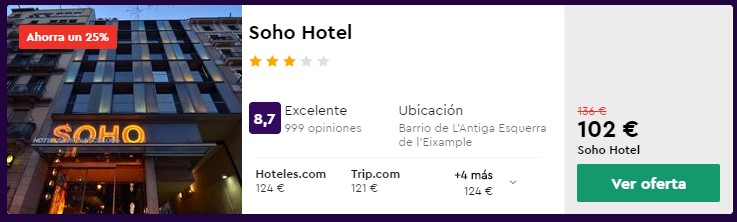hotel 3 estrellas en barcelona en junio desde 51 euros persona y noche