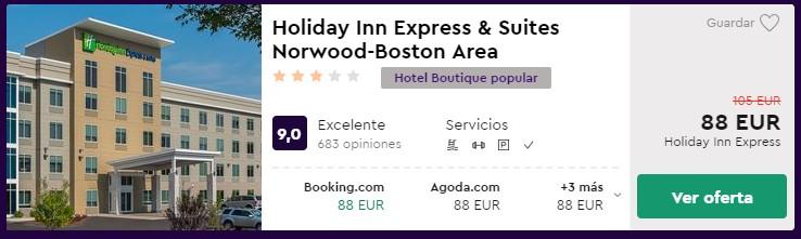 Hotel 3* en Boston en el puente de mayo desde 44 euros por persona y noche