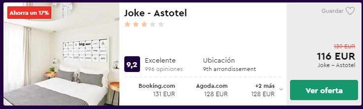Hotel 3* en París desde 58 euros por persona y noche