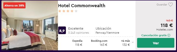 hotel 4 estrellas en boston en enero 2020 desde 59 euros persona y noche