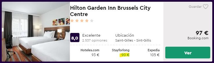 Hotel Hilton 4* en Bruselas para el Puente de Diciembre desde 45€ por persona y noche