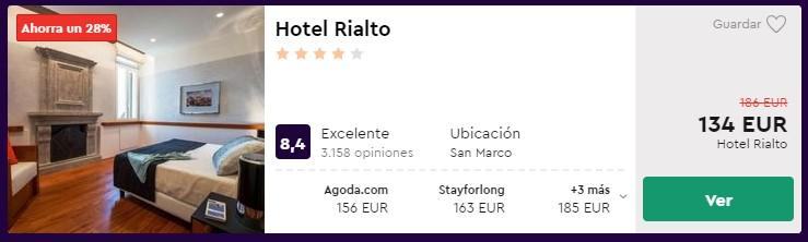 Hotel 4* en Venecia desde 67 euros por persona y noche