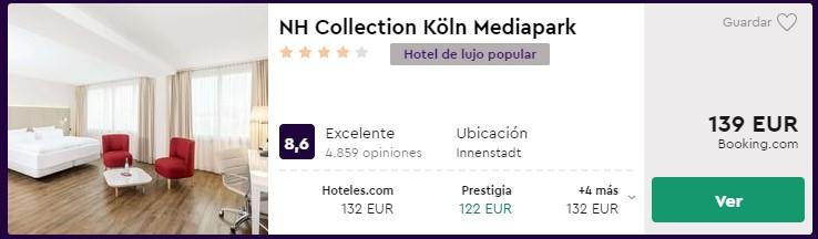 Hotel 4 estrellas en colonia para puente de diciembre desde 61 euros por persona y noche