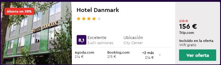 hotel 4 estrellas en copenhague en agosto desde 78 euros persona y noche