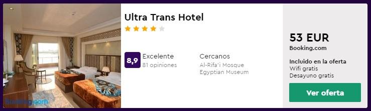 Hotel 4 estrellas en El Cairo desde 26,50 euros por persona y noche en el Puente de Mayo