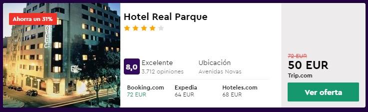 Hotel 4* en Lisboa desde 25€ por persona y noche