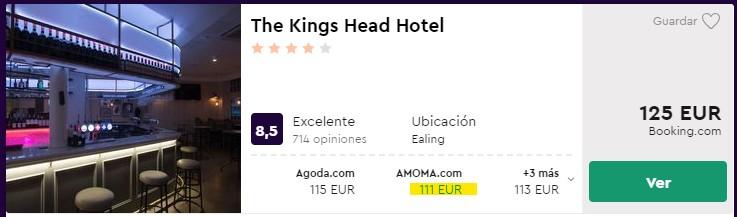 Hotel 4 estrellas en Londres para puente de octubre desde 55 euros por persona y noche
