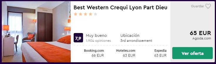 hotel 4 estrellas en lyon desde 32 euros por persona y noche