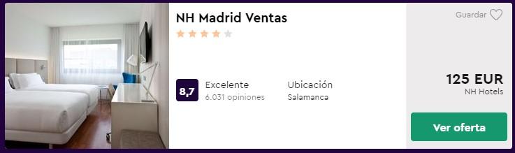 Hotel 4 estrellas en Madrid centro desde 62,50 euros por persona y noche
