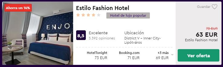 Hotel 4* en Budapest desde 31,50 euros por persona y noche