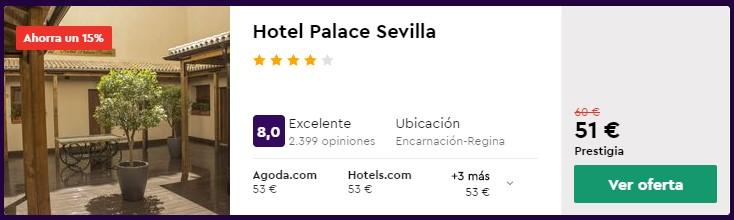 Hotel 4* en Sevilla desde 25,50 euros por persona y noche