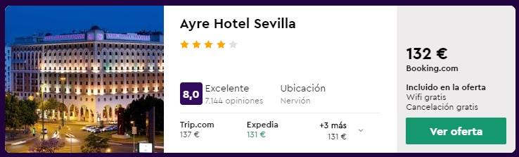 hotel 4 estrellas en sevilla para puente de octubre 2020 desde 22 euros persona y noche