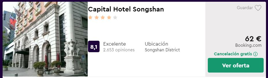 Hotel 4* en Taipéi desde 31 euros por persona y noche
