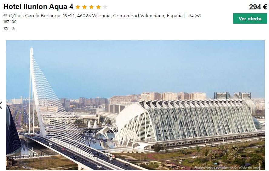 hotel 4 estrellas en valencia en octubre desde 49 euros persona y noche