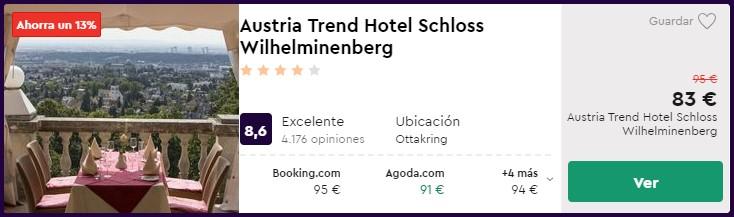 Hotel 4* en Viena desde 41,50 euros por persona y noche
