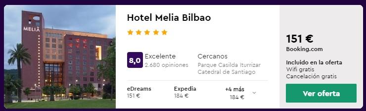 hotel 5 estrellas en bilbao para puente de octubre 2020 desde 25 euros persona y noche
