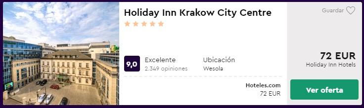 Hotel 5 estrellas en Cracovia desde 66 euros por persona y noche