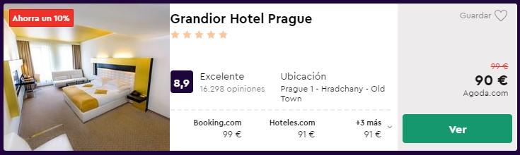 hotel 5 estrellas en praga desde 45 euros persona y noche