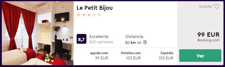 Hotel céntrico en Roma desde 49,50€ por persona y noche