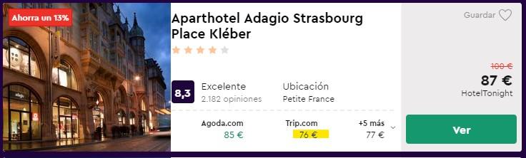 Aparthotel céntrico en Alsacia en navidad desde 38 euros por persona y noche