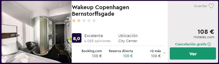 Hotel céntrico en Copenhague para puente de diciembre desde 54 euros por persona y noche