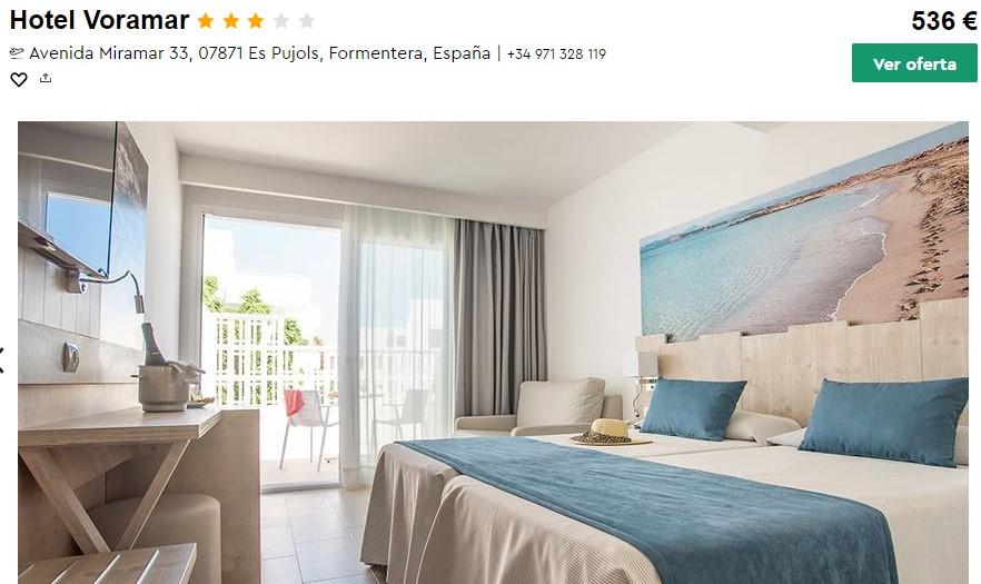 Hotel en Formentera desde 67 euros por persona y noche