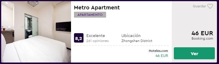 Apartamento en Taipéi desde 23 euros por persona y noche