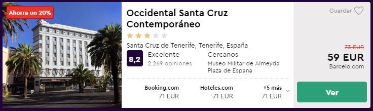 hotel en tenerife desde 29 euros por persona y noche