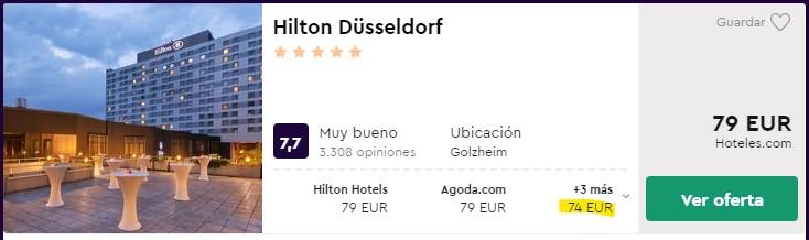 hotel hilton 5 estrellas en dusseldorf en carnaval desde 37 euros persona y noche