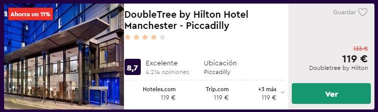 Hotel Hilton 4* céntrico en Mánchester para el Puente de Diciembre desde 59,50€ por persona y noche