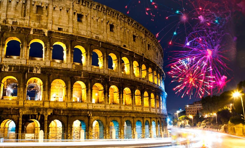 nochevieja en roma italia