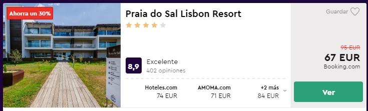 resort 4 estrellas en lisboa desde 33 euros por persona y noche