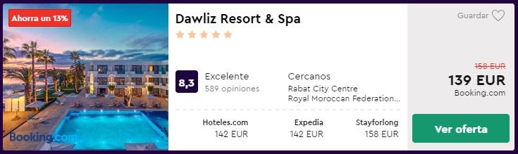 resort 5 estrellas en rabat en febrero 2020 desde 69 euros por persona y noche