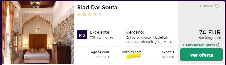 riad 4 estrellas en rabat en febrero 2020 desde 33 euros por persona y noche