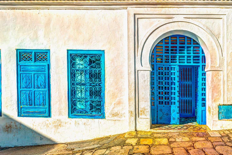 tunez fachada distrito historico